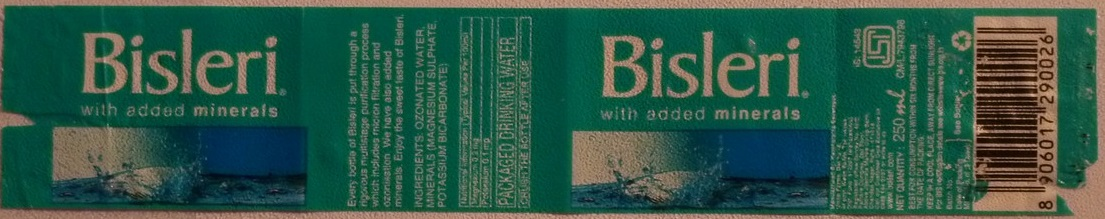 India - Bisleri 250ml